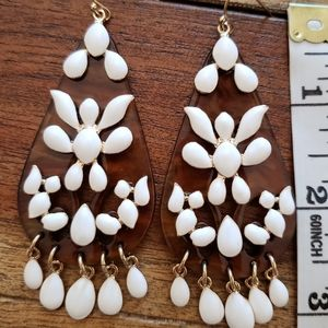 Summer boho statement earrings